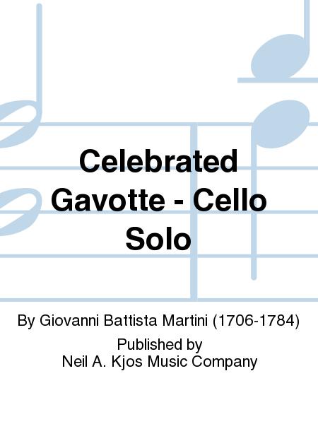 Celebrated Gavotte - Cello Solo