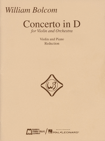 Concerto In D for Violin - Violin/Piano