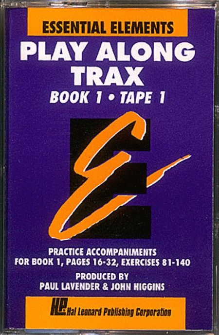 Essential Elements Book 1 (Cassette 1) - Play Along Trax With Norelco Box