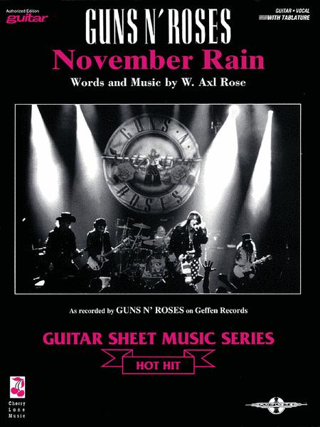 november rain sheet music by guns n roses sheet music plus