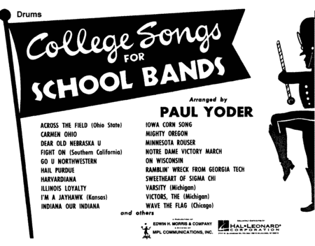 College Songs for School Bands - Drums