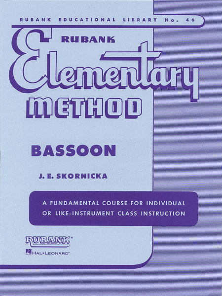 Rubank Elementary Method - Bassoon