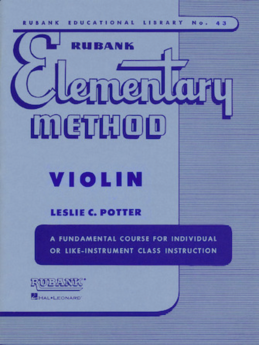 Rubank Elementary Method - Violin