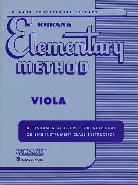 Rubank Elementary Method - Viola