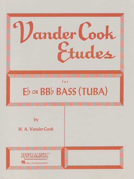 Vandercook Etudes for Bass/Tuba (B.C.)