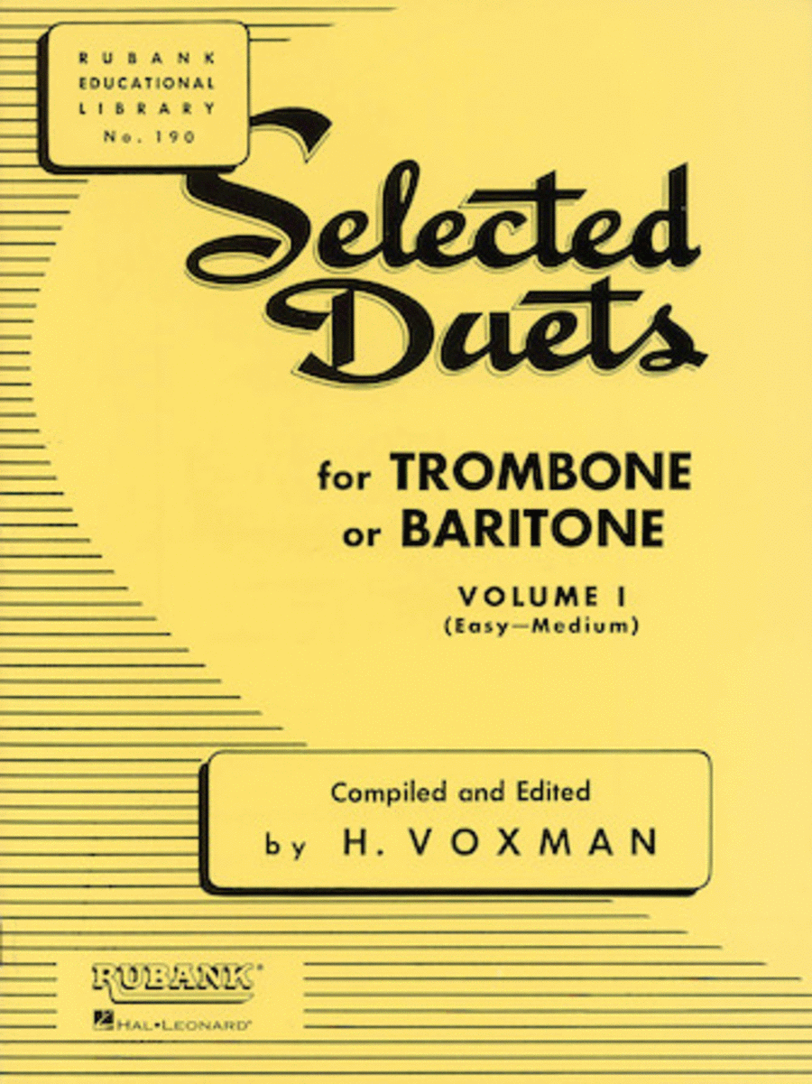 Selected Duets - Trombone Or Baritone (Volume 1)