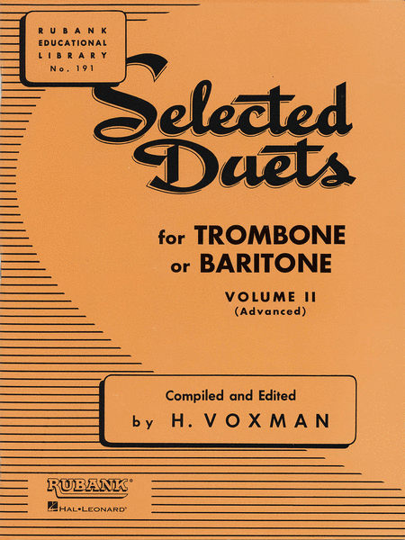 Selected Duets - Trombone Or Baritone (Volume 2)