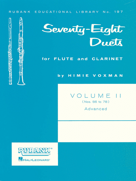 78 Duets for Flute and Clarinet - Volume 2 - Nos. 56 To 78