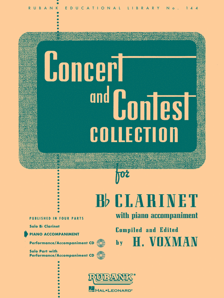 Concert and Contest Collections - Bb Clarinet (Piano Accompaniment part)