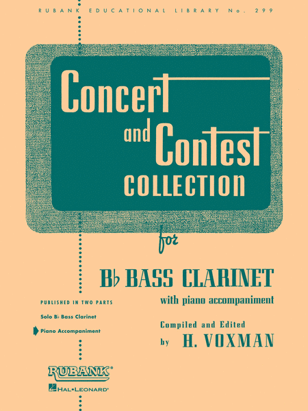 Concert and Contest Collections  - Bb Bass Clarinet (Piano Accomopaniment part)