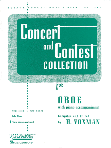 Concert and Contest Collection - Oboe (Piano Accompanimet part)