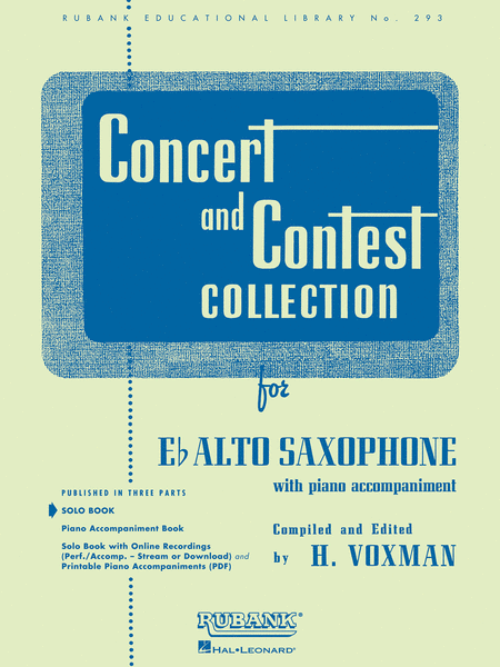 Concert and Contest Collections  - Alto Saxophone (Alto Saxophone solo part)