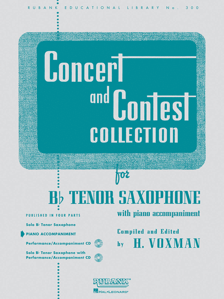 Concert and Contest Collections (Piano Accompaniment Part)