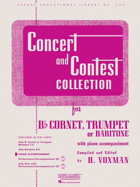 Concert and Contest Collections - Trumpet/Cornet/Baritone (Piano Accompaniment Part)
