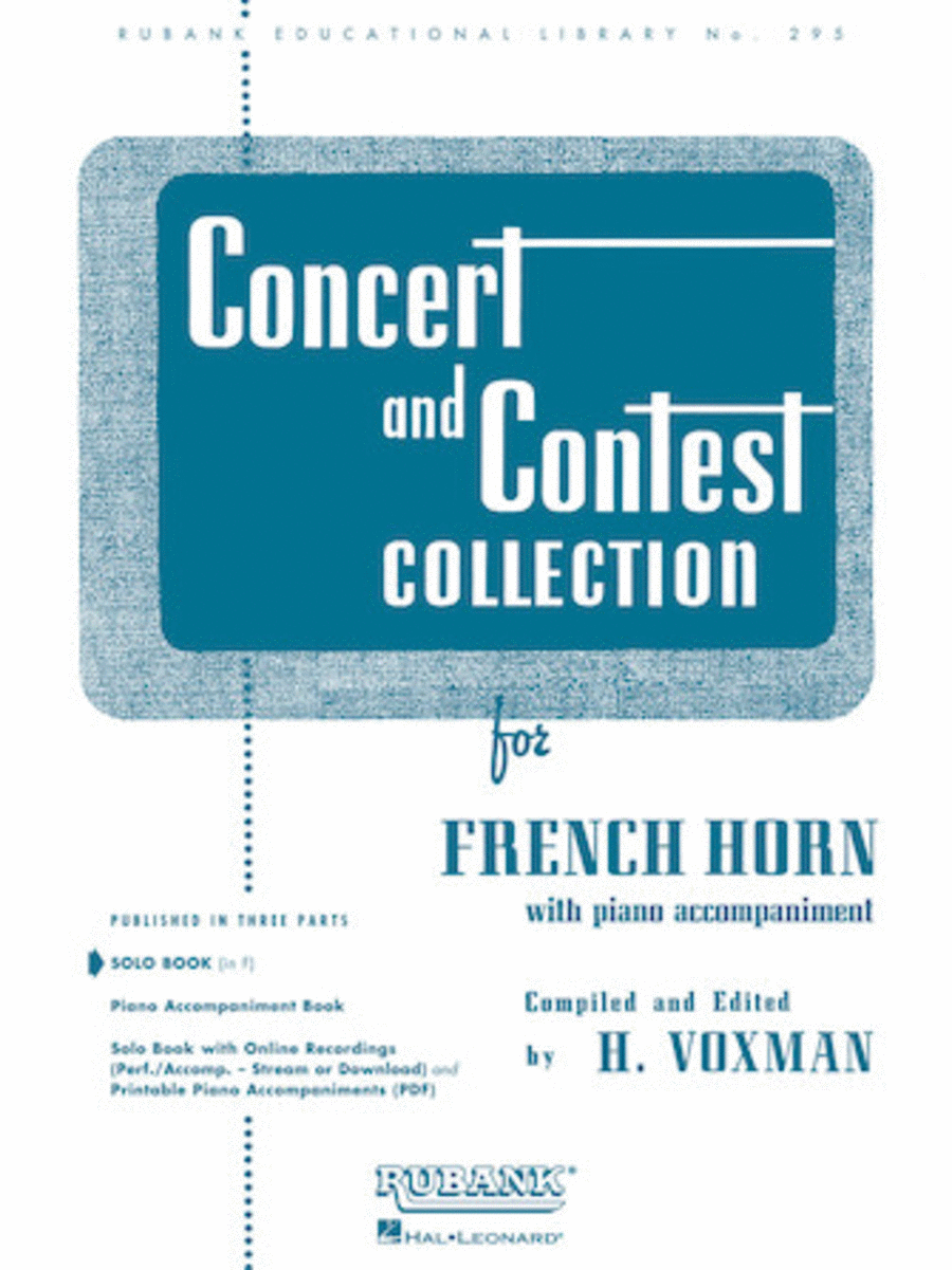 Concert and Contest Collections  - French Horn (French Horn Solo Part)