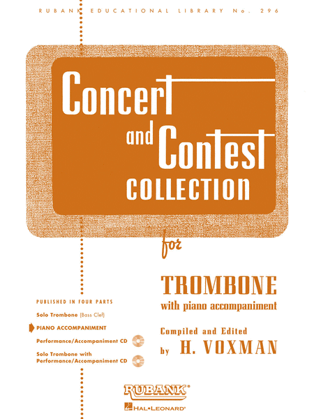 Concert and Contest Collections  - Trombone (Piano Accompaniment Part)