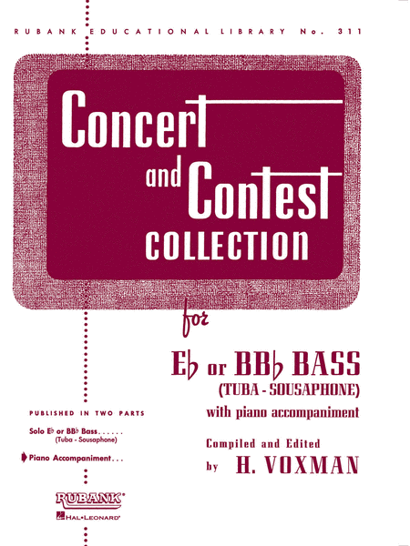 Concert and Contest Collections  - Tuba (Piano Accompaniment Part)