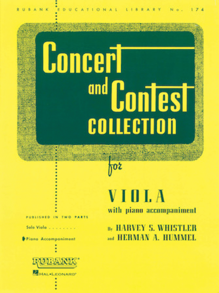 Concert and Contest Collections - Viola (Viola Solo Part)