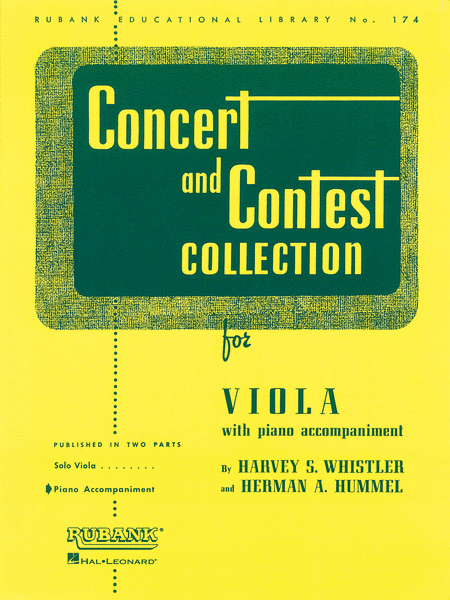 Concert and Contest Collections  - Viola (Piano Accompaniment Part)
