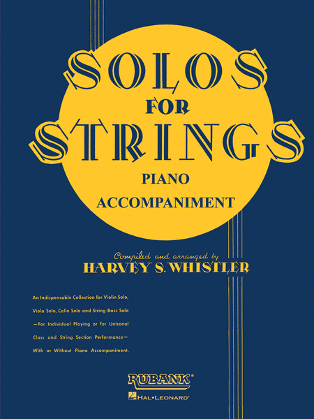 Solos For Strings - Piano Accompaniment