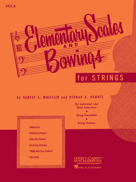 Elementary Scales and Bowings - Viola