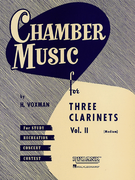 Chamber Music for Three Clarinets, Vol. 2 (Medium)