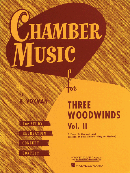 Chamber Music For Three Woodwinds - Volume 2 (Easy To Medium)