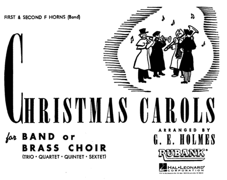 Christmas Carols For Band or Brass Choir - 1st & 2nd F Horns (Band) (Concert Band)
