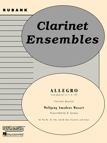 Allegro (from Quartet in C, K.157)