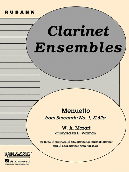 Menuetto from Serenade No. 1 (K. 62a)