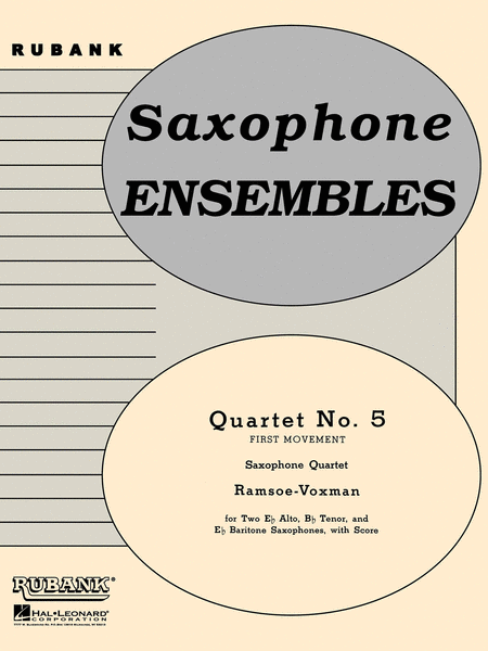 Quartet No. 5 (First Movement)