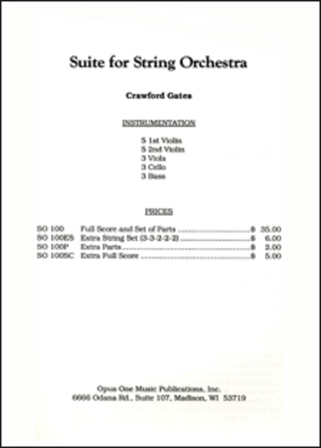Suite For String Orchestra - Score