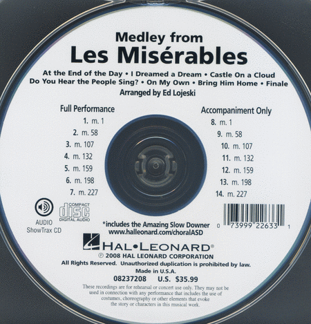 Les Miserables - ShowTrax CD