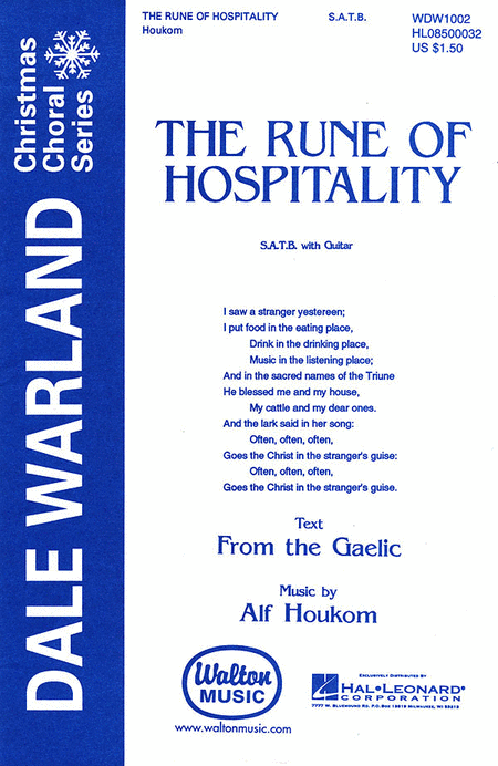 The Rune Of Hospitality (Vocal Score)