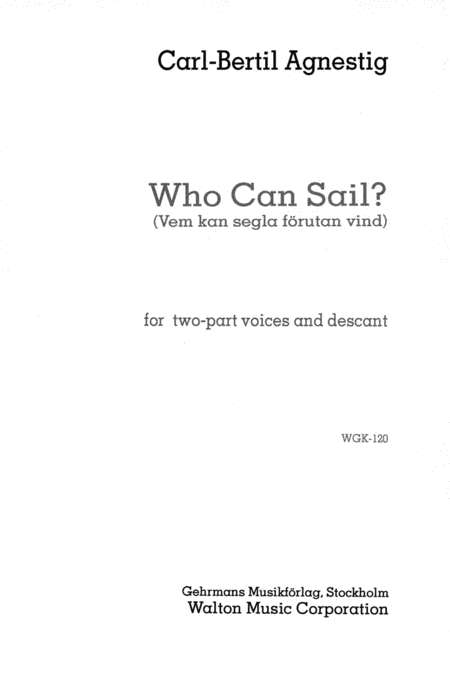 Who Can Sail?