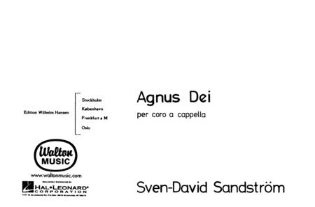 Agnus Dei - SSAATTBB