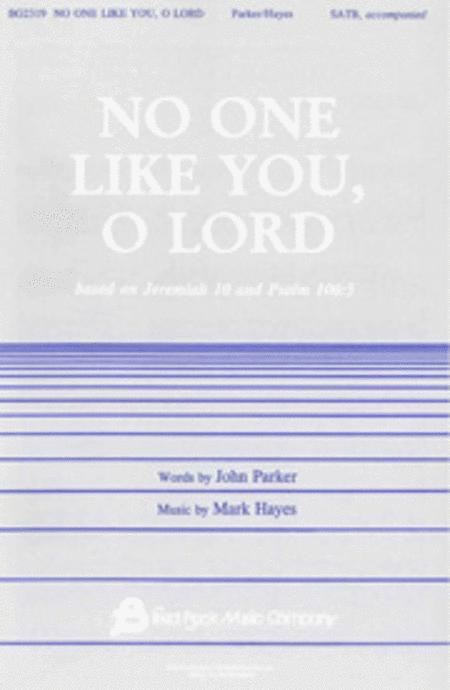 No One Like You, O Lord