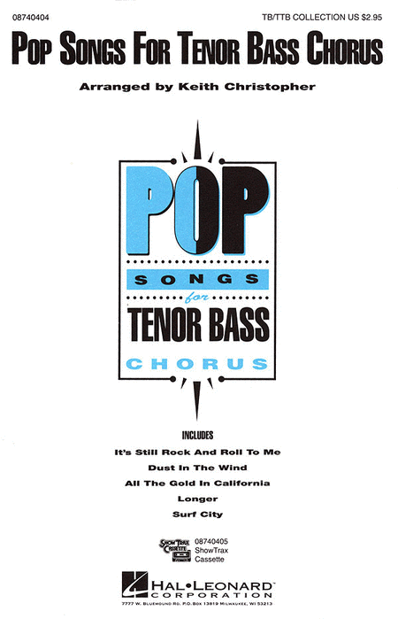 Pop Songs for Tenor Bass Chorus (Collection)