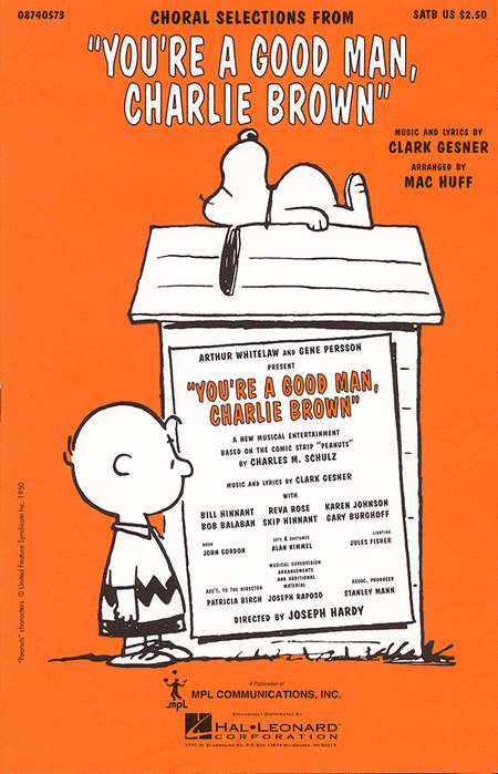 You're a Good Man, Charlie Brown (Choral Selections)