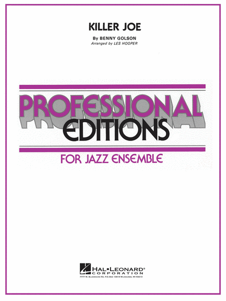 Killer joe sheet music by benny golson sheet music plus