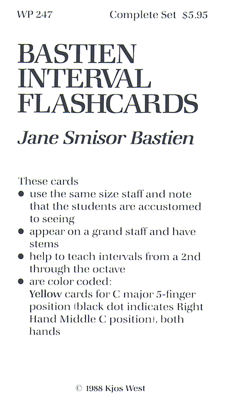 Bastien Interval Flashcards