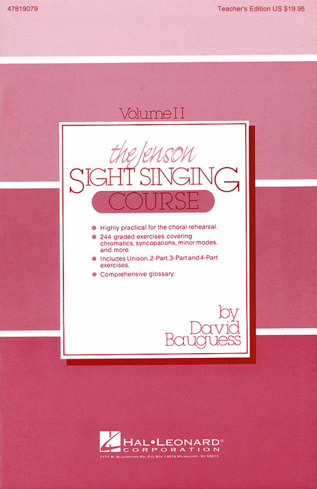 The Jenson Sight Singing Course (Vol. II)