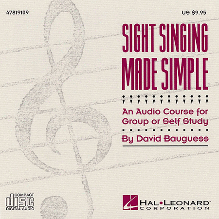 Sight Singing Made Simple (Resource) - CD