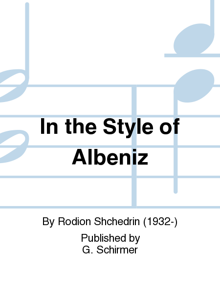 In the Style of Albeniz