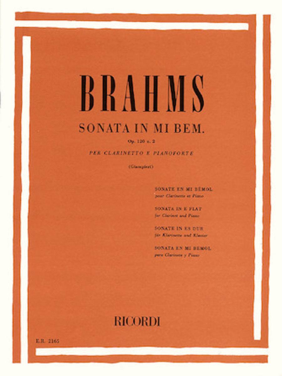 Clarinet Sonata In Eb, Op. 120, No. 2 - Clarinet/Piano