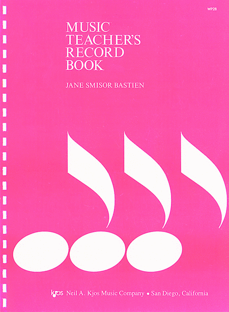 Music Teachers Record Book