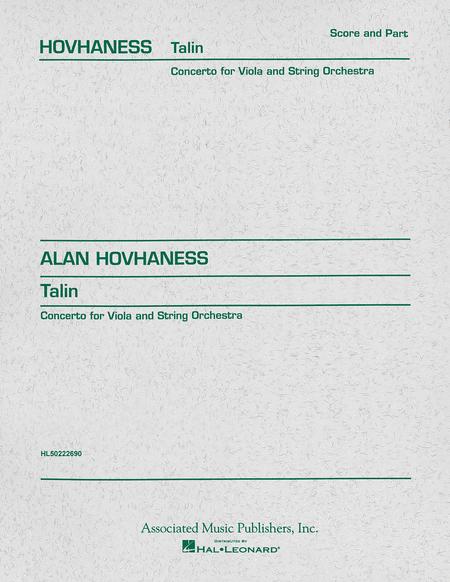 Talin Concerto - Viola/Piano
