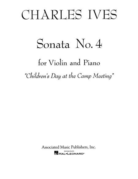 Sonata No. 4: Childrens Day at the Camp Meeting