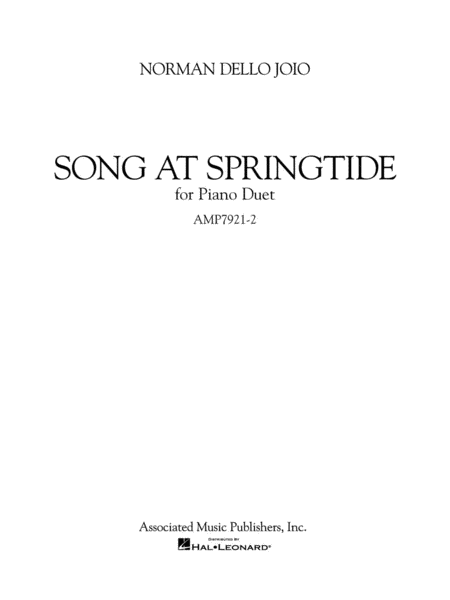 Song at Springtide