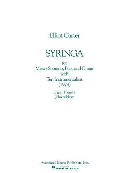 Syringa (1978)